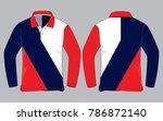 sport long sleeve polo shirt... | Shutterstock .eps vector #786872140