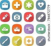 flat vector icon set   doctor... | Shutterstock .eps vector #786872779