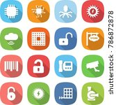 flat vector icon set   chip... | Shutterstock .eps vector #786872878