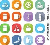 flat vector icon set   bio... | Shutterstock .eps vector #786873013
