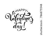 happy valentines day. retro... | Shutterstock .eps vector #786875548