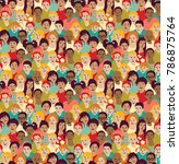 children crowd group color... | Shutterstock .eps vector #786875764