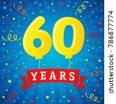 60 years anniversary... | Shutterstock .eps vector #786877774