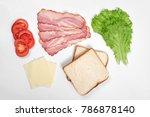 ingredients for making sandwich.... | Shutterstock . vector #786878140