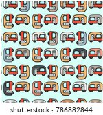 seamless pattern cute adorable... | Shutterstock .eps vector #786882844