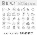 trekking travelling icon... | Shutterstock .eps vector #786883126