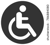 handicapped person  invalid ... | Shutterstock .eps vector #786884080