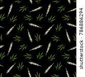 marijuana leaf and spliff ... | Shutterstock .eps vector #786886294