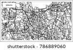 jakarta indonesia city map in... | Shutterstock .eps vector #786889060