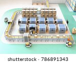 smart factory equipped with agv ... | Shutterstock . vector #786891343