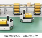 self driving agv  automatic... | Shutterstock . vector #786891379