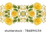 seamless pattern. golden... | Shutterstock . vector #786894154