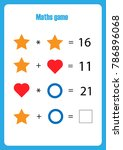maths game with pictures ... | Shutterstock .eps vector #786896068