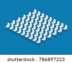 meeting room setup layout... | Shutterstock .eps vector #786897223
