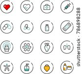 line vector icon set   heart... | Shutterstock .eps vector #786898288