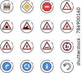 line vector icon set   sign... | Shutterstock .eps vector #786900160