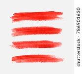 acrylic art brush painted... | Shutterstock .eps vector #786901630