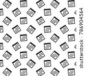 calendar icon  vector... | Shutterstock .eps vector #786904564