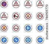 line vector icon set   no... | Shutterstock .eps vector #786905770