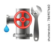 pipeline and water filter for... | Shutterstock .eps vector #786907660