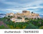 Acropolis With Parthenon And...