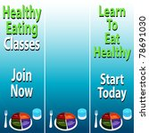 an image of healthy eating... | Shutterstock .eps vector #78691030