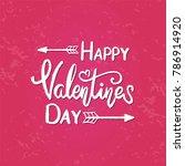 vector text happy valentine day.... | Shutterstock .eps vector #786914920
