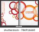 annual report cover design | Shutterstock .eps vector #786916660