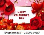 vector valentine's day... | Shutterstock .eps vector #786916900