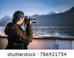 photographer man taking photo...   Shutterstock . vector #786921754