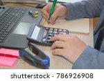 the calculators  business... | Shutterstock . vector #786926908
