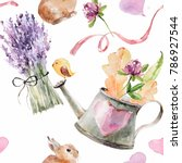Watercolor Ornament With Wild...