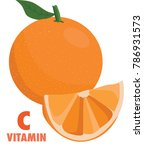 vitamin c fruit with orange.  | Shutterstock .eps vector #786931573