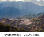 small spanish mountain town... | Shutterstock . vector #786934588