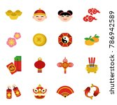 chinese new year holiday... | Shutterstock .eps vector #786942589
