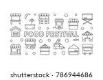 food festival vector linear...   Shutterstock .eps vector #786944686