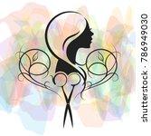 beauty salon and hairdresser... | Shutterstock .eps vector #786949030