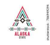 alaska state ethnic logo. north ... | Shutterstock .eps vector #786949294