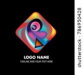 vector abstract colorful logo... | Shutterstock .eps vector #786950428