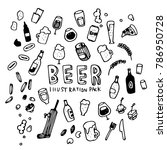 beer illustration pack | Shutterstock .eps vector #786950728