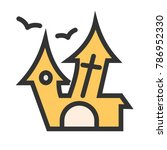 haunted house icon | Shutterstock .eps vector #786952330