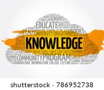 knowledge word cloud collage ...   Shutterstock .eps vector #786952738