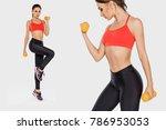 fitness model performs... | Shutterstock . vector #786953053