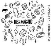 dish washing illustration pack | Shutterstock .eps vector #786953248