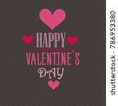 st. valentine's day abstract... | Shutterstock .eps vector #786953380