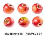 beautiful ripe juicy apple on a ... | Shutterstock . vector #786961639