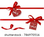 valentine's day sale tag with... | Shutterstock .eps vector #786970516