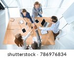 business team shaking hands... | Shutterstock . vector #786976834