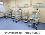 closeup of infant incubator... | Shutterstock . vector #786976873