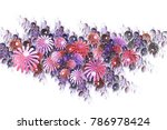 beautiful pink and violet... | Shutterstock . vector #786978424